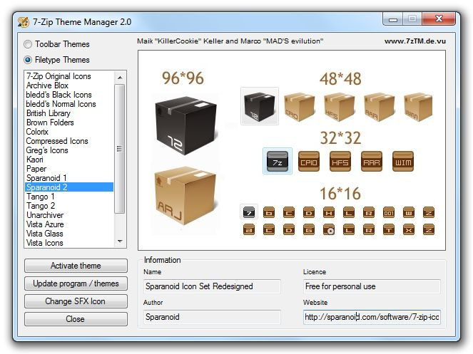 7-Zip Theme Manager